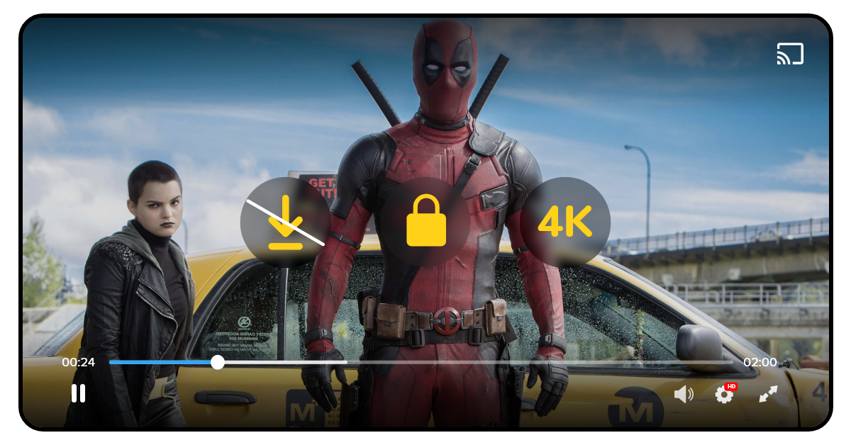 Build movie streaming website with DRM security
