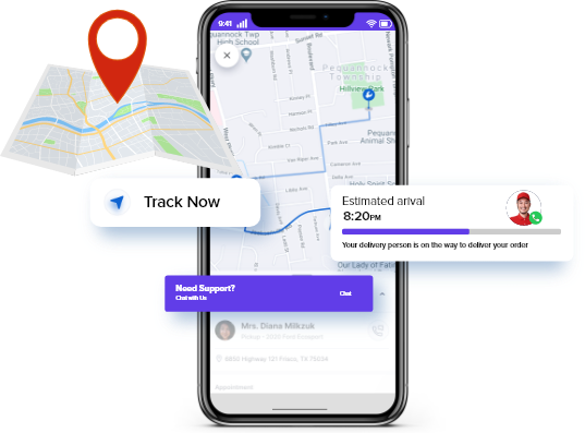 in-app messaging api for order tracking