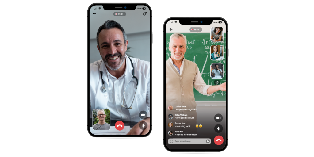 chat platform feature in healthcare  app