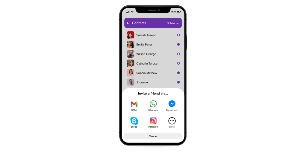 how to importing phone contacts from in chat platform